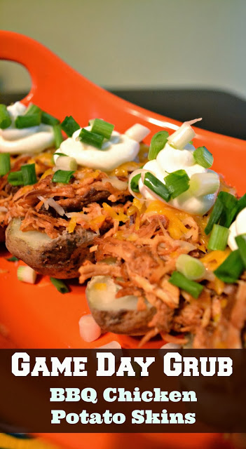 This recipe features a baked potato smothered in slow-cooked shredded BBQ chicken, cheddar jack cheese, a dollop of sour cream and green onions. #MyPicknSave #shop #cbias