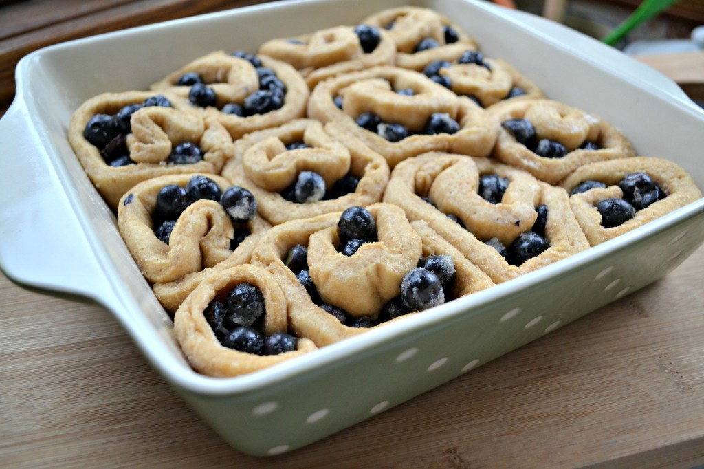 Blueberry Breakfast Rolls Recipe (dough after rise)