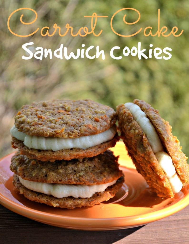 Carrot Cake Sandwich Cookies with Cream Cheese Frosting ...
