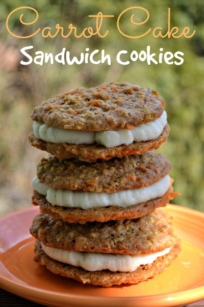 Carrot Cake Sandwich Cookies with Cream Cheese Frosting - The Domestic ...