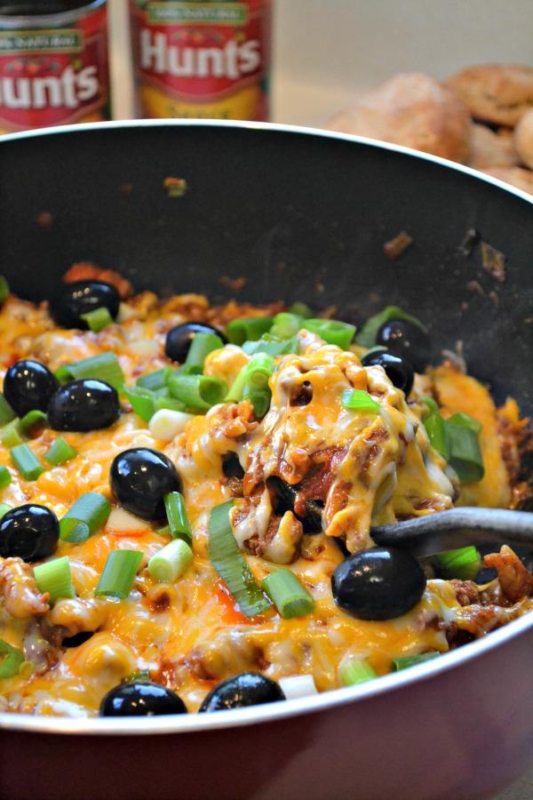 Cheesy Enchilada Skillet #DinnerDone #Shop