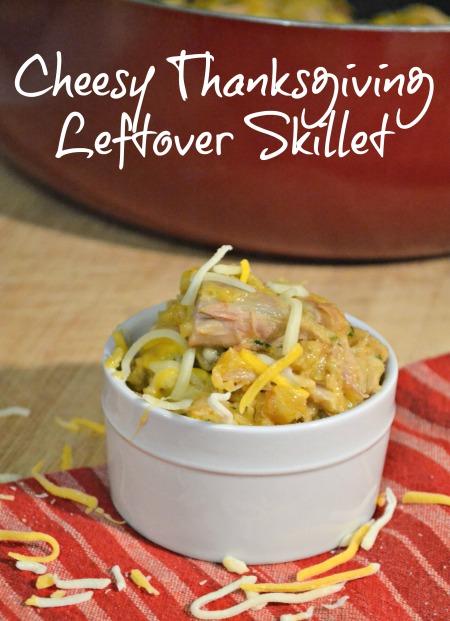 Cheesy Thanksgiving turkey leftover skillet recipe