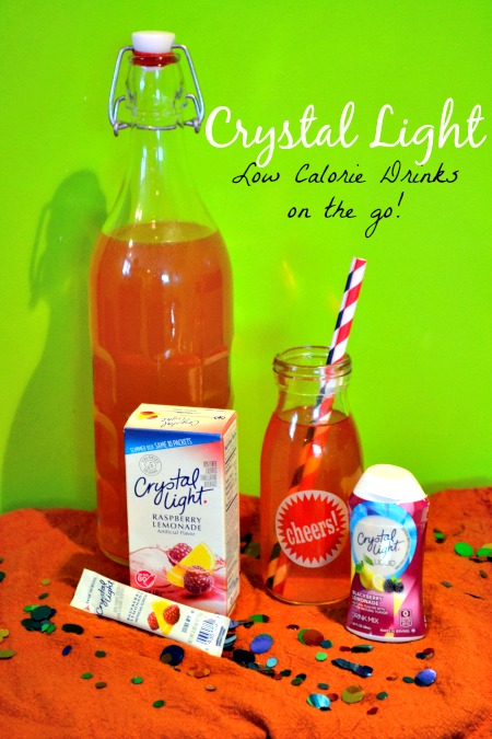 Crystal Light low calorie drinks on the go