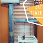 DIY Cedar Wood Cat Tower