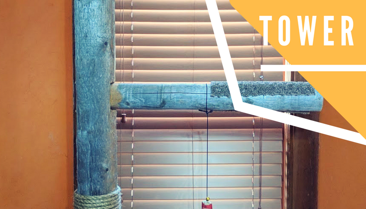 DIY Cedar Wood Cat Tower