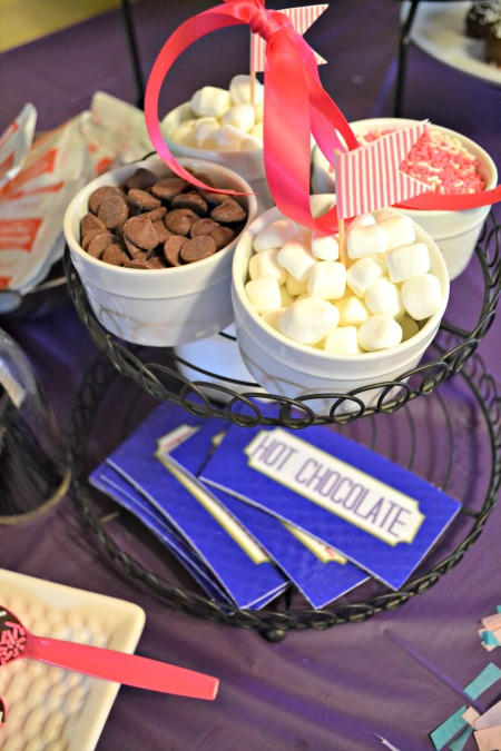 DIY Hot Chocolate station for party