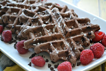 Double chocolate waffles parks and recreation