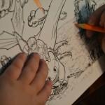 Dreamworks Color Dragons coloring sheet