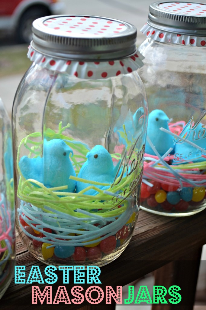 last minute easter craft easter mason jars the domestic