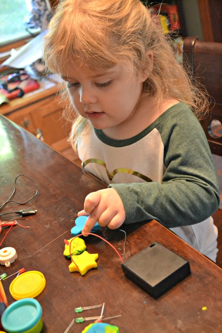 Explore electricity with your children using this DIY elector dough kit.