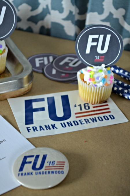 #FU2016 Cupcakes and campaign props