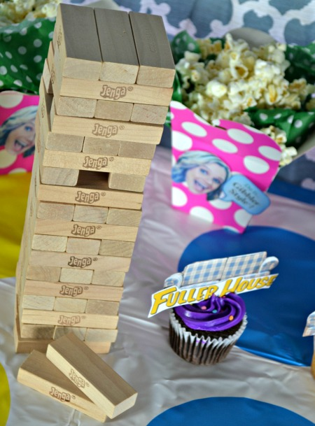 Fuller House party Jenga