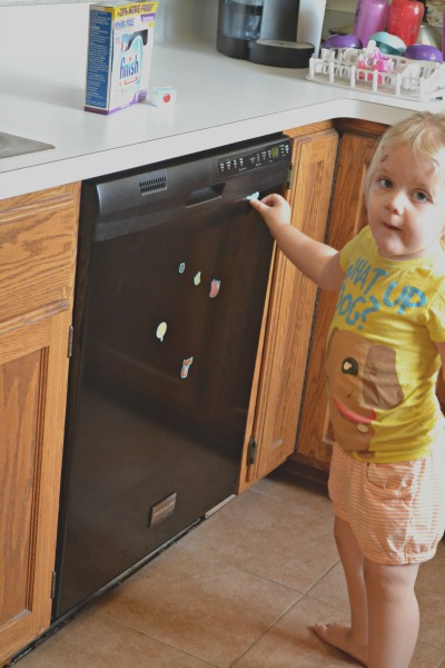 Helping with dishes  #SparklySavings #shop