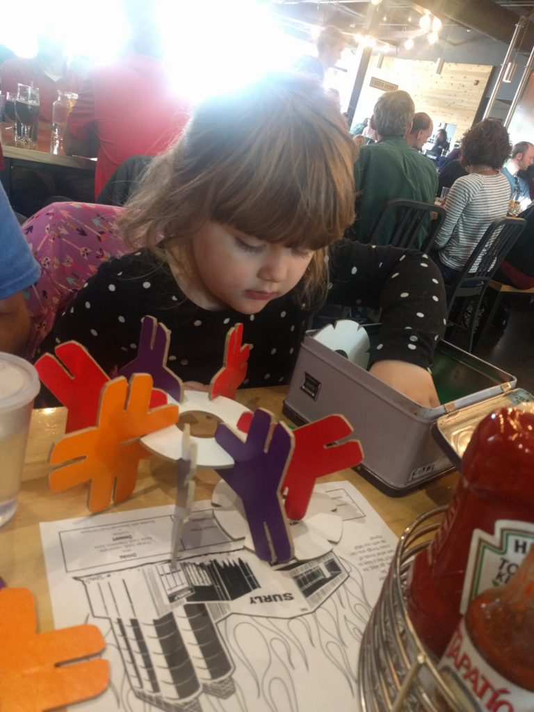 3d puzzle for the kids at surly beer hall