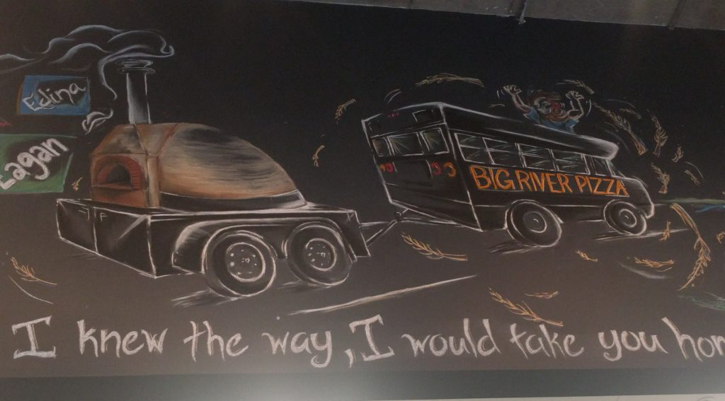 big river pizza chalk art