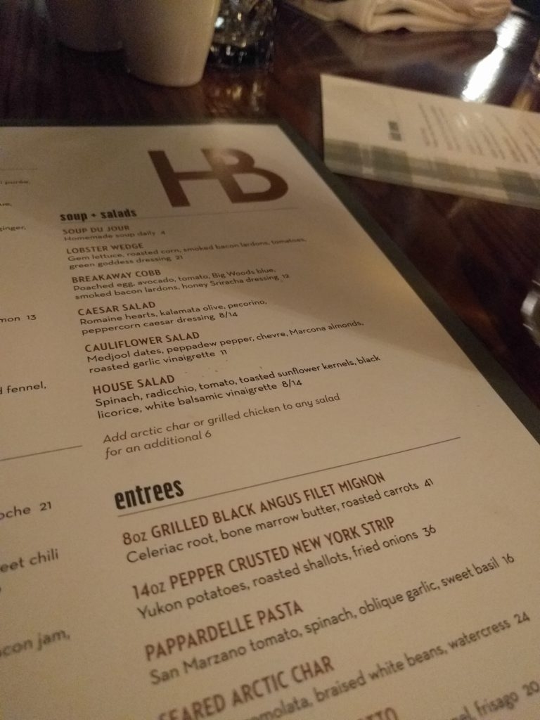 herbies on the park menu