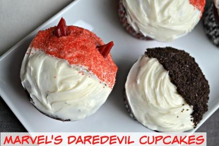 Marvels Daredevil cupcakes