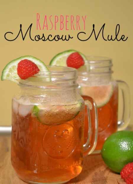 Moscow Mule with Raspberry and lime.