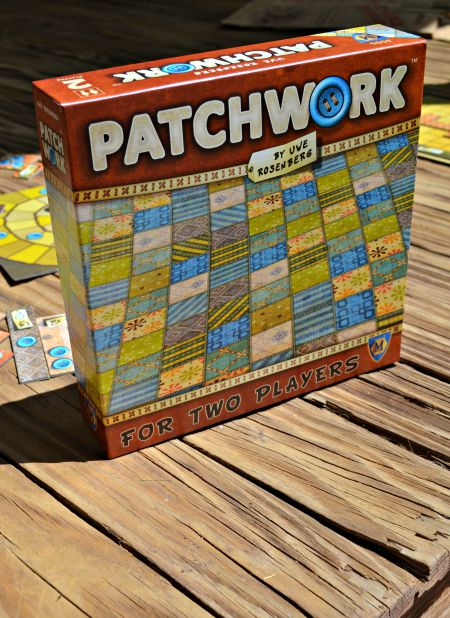 Patchwork board game for two players