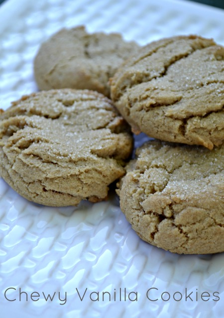 Simple chewy vanilla cookies