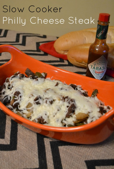 Slow Cooker Philly Cheese steak recipe #shop