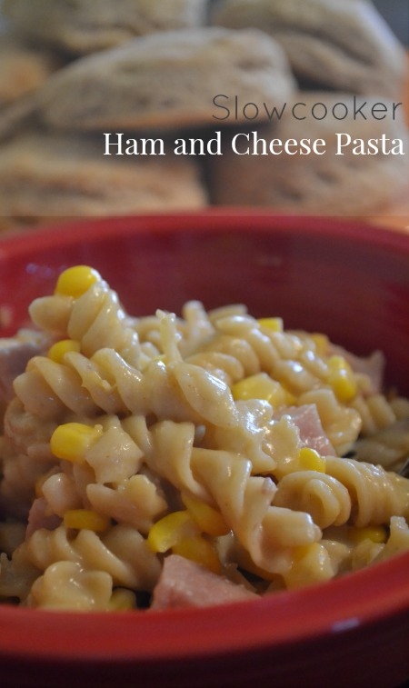Slowcooker ham and cheese pasta