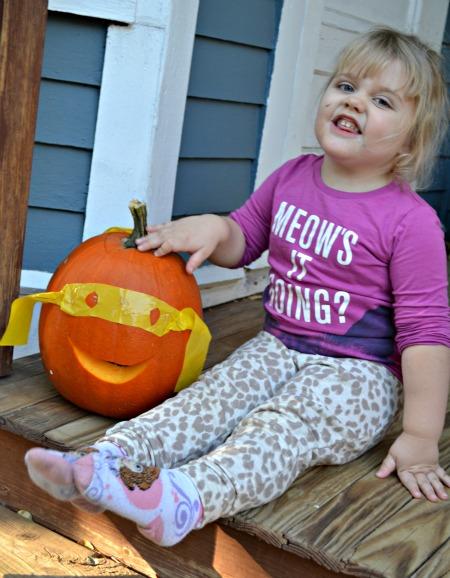 Super Hero Pumpkin pose