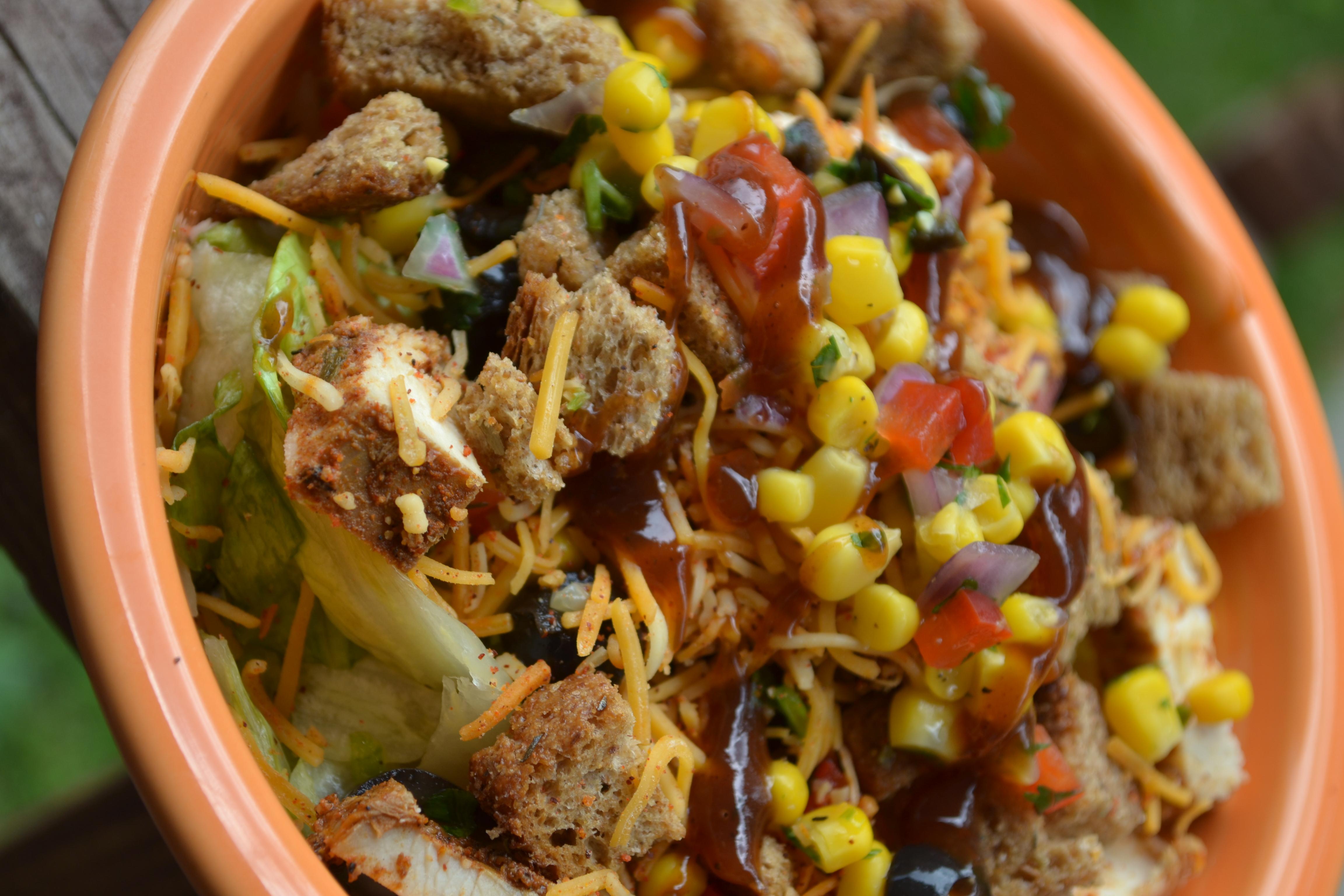 Tex Mex Salad with corn salsa
