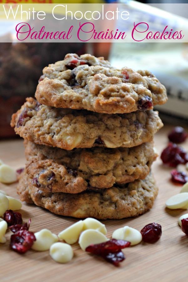 White chocolate oatmeal raisin cookies recipe