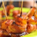 BBQ Glazed Pineapple Bacon Shrimp