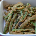 Beer battered green beans make a great appetizer or side dish.