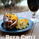 Beer Chili Cheese Dogs are a great recipe for those cool spring tailgates!