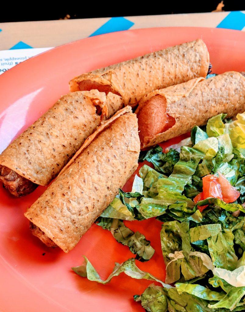 BelAir Cantina Hot Dog taquitos kids menu appetizer