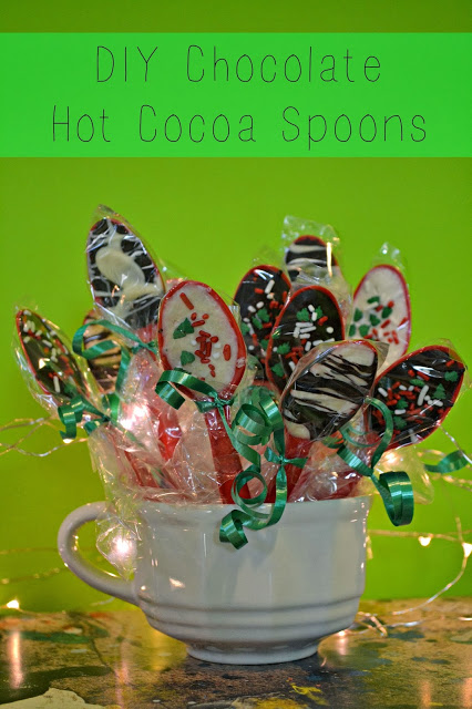 Chocolate Hot Cocoa Spoons, an easy DIY treat. You'll never look at cutlery the same way again.