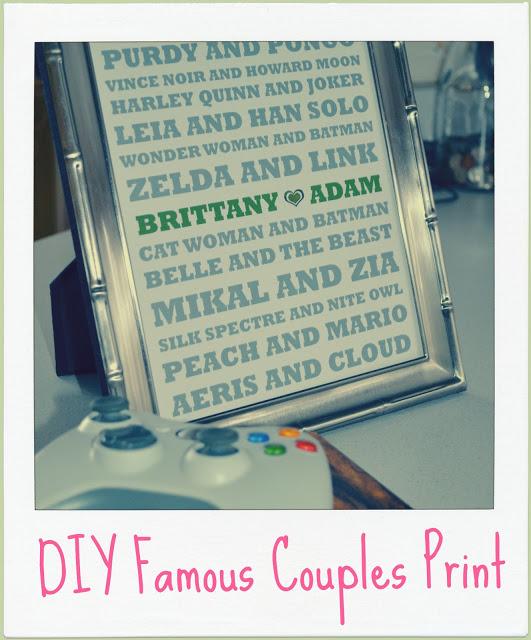 DIY Famous Couples Print
