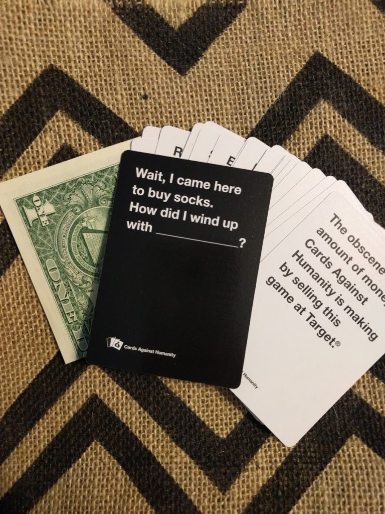 cards against humanity retail product sold exclusively at target