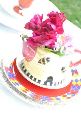 DIY candy buffet tea pot
