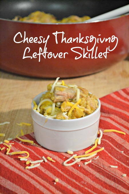 Cheesy Thanksgiving Turkey Leftover Skillet Recipe