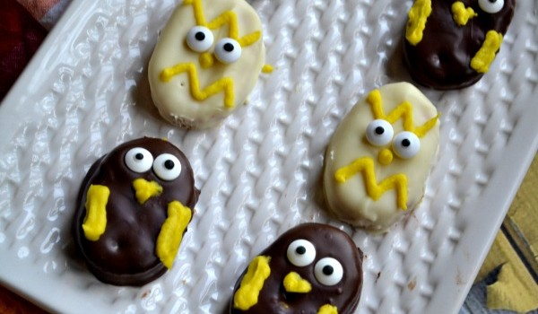 Chocolate Covered Peanut Butter Chicks and Baby Owls recipe for Easter