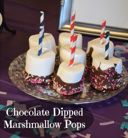These are simple and fun treats for any type of kid focused party, I mean come on chocolate and marshmallows how can you go wrong!