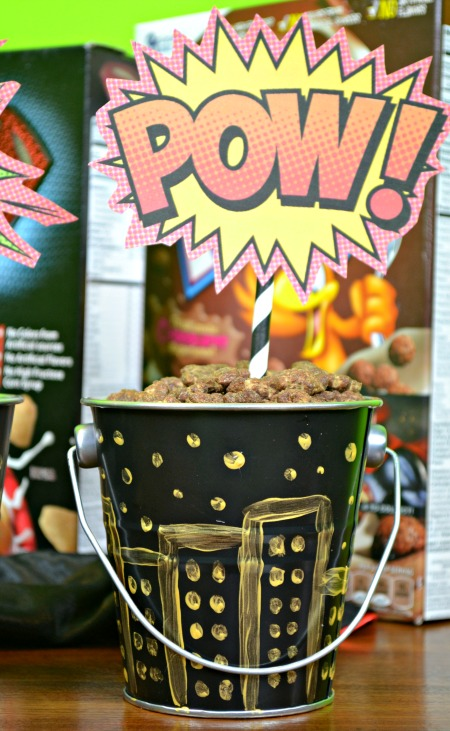 comic book party centerpiece idea
