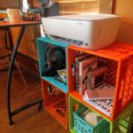 DIY Crate printer and office storage