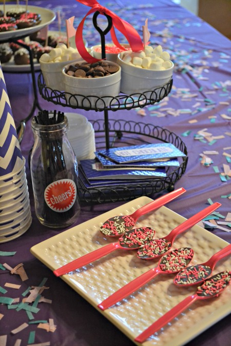 diy hot cocoa station for party