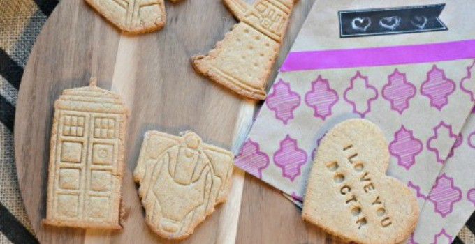 Doctor Who Valentine's Shortbread Cookies