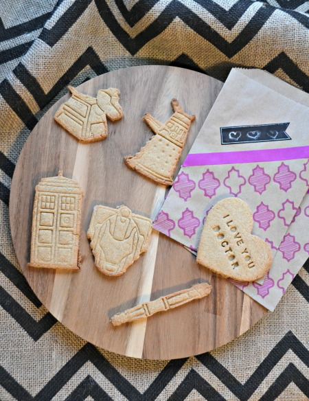 """Doctor Who Valentine's Shortbread Cookies. Tardis, K-9, Dalek, Cybermen, and of course a sonic screwdriver. This is the true way to say """"I love you"""" on Valentine's Day!"""