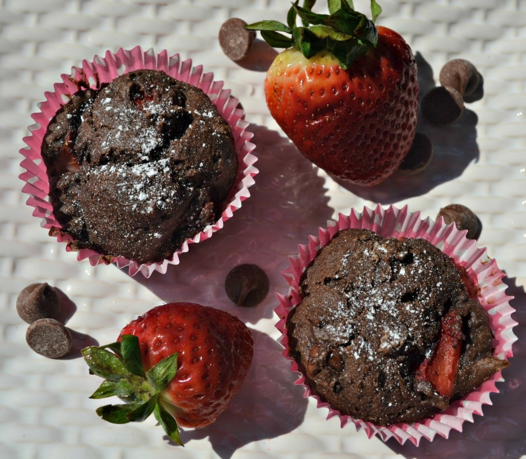 double chocolate strawberry muffin recipe