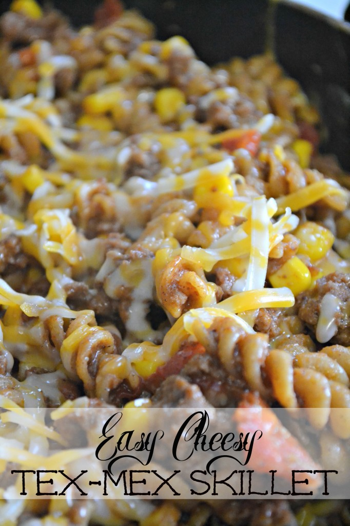 easy cheesy tex mex skillet