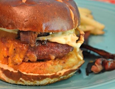 Ron Swanson Inspired Breakfast Burger
