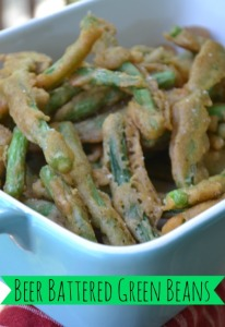 Beer battered green beans, need I say more!