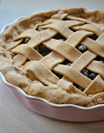 homemade blueberry pie with crust recipe